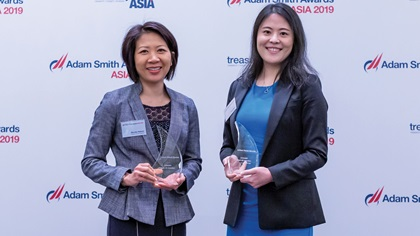 Photo of Monika Nelwan, United Parcel Service Philippines and Erica Gong, J.P. Morgan