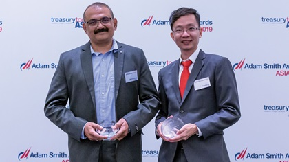 Photo of Mandar Kulkarni, KPIT Technologies Ltd and Wei Liang Ng, DBS