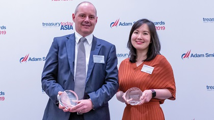 Photo of Steve Sibly, Sensis and Janice Dang, Bank of America