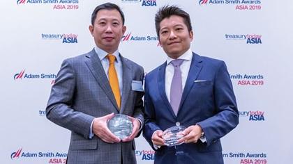 Photo of Li Bing, Juneyao Airlines Co Ltd and Benjamin Che, Standard Chartered