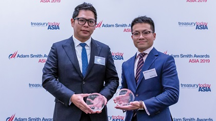 Photo of Edwin Tey, GLP Pte Ltd and Damien Tan, Citi
