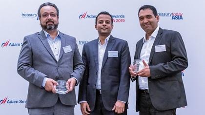 Photo of Saurabh Chakravarty and Girish Bajaj, UltraTech Cement Ltd and Sunil Alva, Fourth Signal