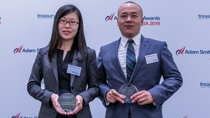 Photo of Wang Ningning, Haier Group and Bruce Nie, Refi nitiv