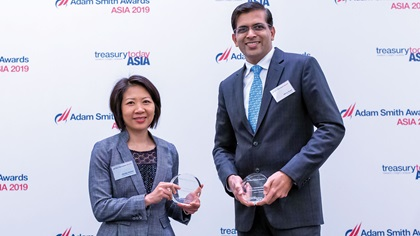 Photo of Monika Nelwan, United Parcel Service Korea and Manoj Dugar, J.P. Morgan