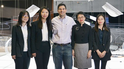 Photo of Chen Yi, Joanna Li, Jared Fedele, Angela Li and Luo Huiting, Lear Corporation.