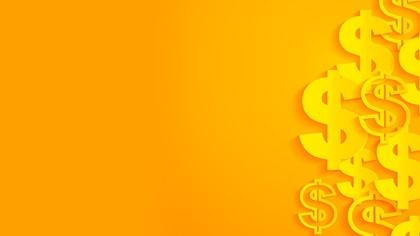 Orange dollar vector background
