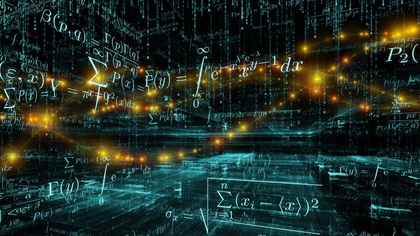 Mathematical formulas all over the place