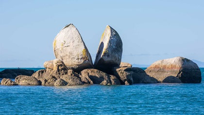 Split rock, South Island