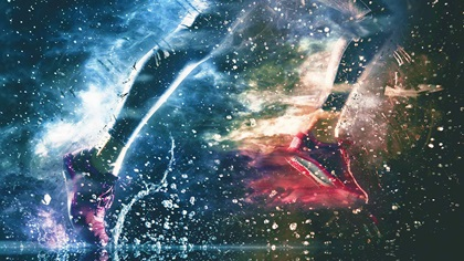 Abstract photo of athlete running