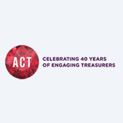 ACT celebrating 40 years of engaging treasurers logo