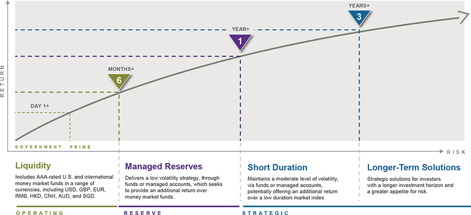 Exhibit 1: Investment strategy per cash segment