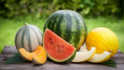 Bunch of different types of watermelon