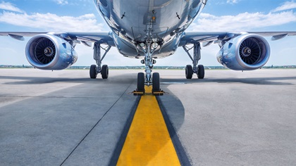 Aeroplane sitting on the runway