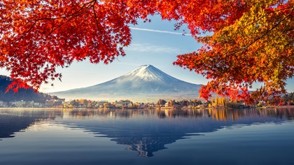 Beautiful scenery at Japan's Mount Fuji
