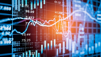 Stock market digital graph
