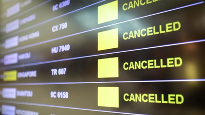 Flights cancelled, lockdowns and social distancing