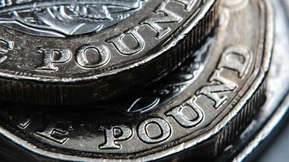 British pound close up
