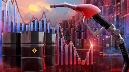 Montage of share prices, hedging, fuel