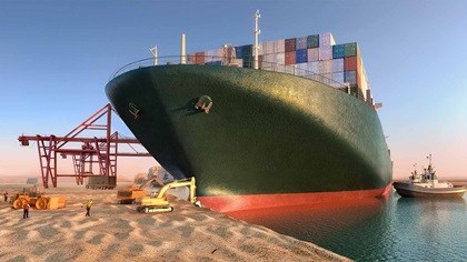 Suez boat stuck