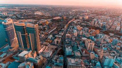 City view of Dar es Salaam, Africa