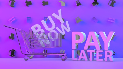 Buy now, pay later concept