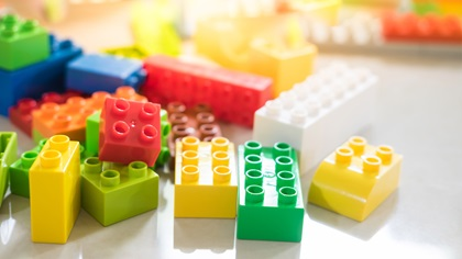Bunch of lego building blocks