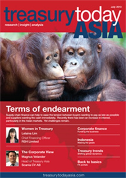 Treasury Today Asia July/August 2013 magazine cover
