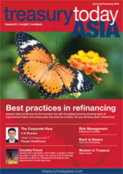 Treasury Today Asia January/February 2014 magazine cover