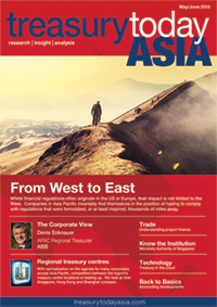 Treasury Today Asia May/June 2015 magazine cover