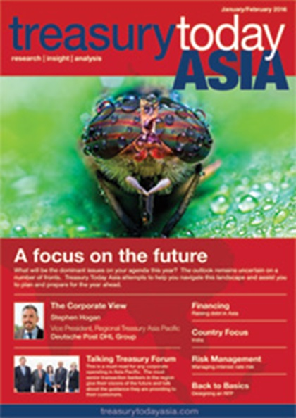 Treasury Today Asia January/February 2016 magazine cover