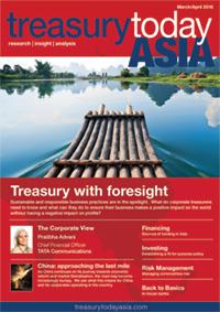 Treasury Today Asia March/April 2016 magazine cover