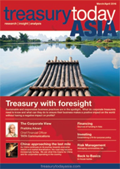 Treasury Today Asia March/April 2016 magazine cover
