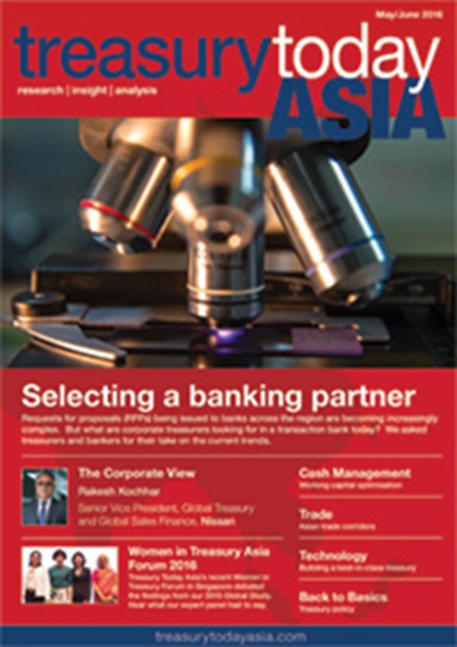 Treasury Today Asia May/June 2016 magazine cover
