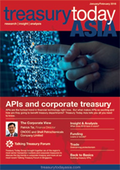 Treasury Today Asia January/February 2018 magazine cover