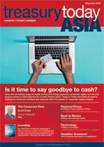 Treasury Today Asia May/June 2018 magazine cover