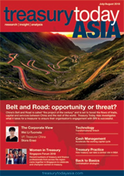 Treasury Today Asia July/August 2018 magazine cover