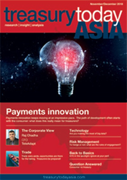 Treasury Today Asia November/December 2018 magazine cover