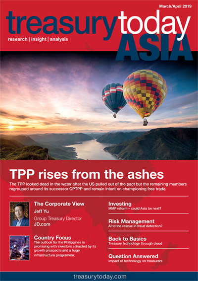 Treasury Today Asia March/April 2019 magazine cover