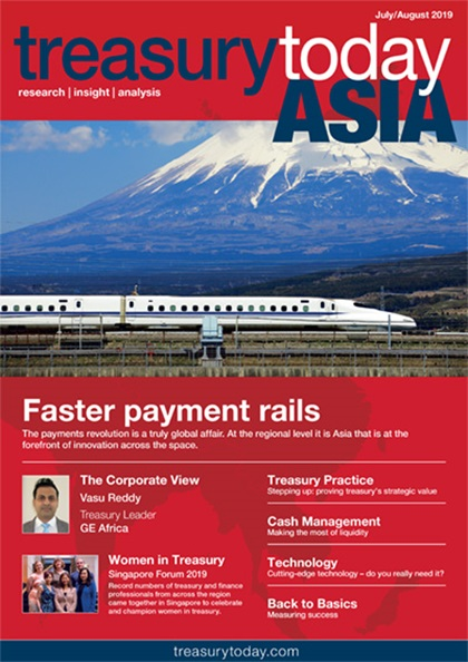 Treasury Today Asia July/August 2019 magazine cover