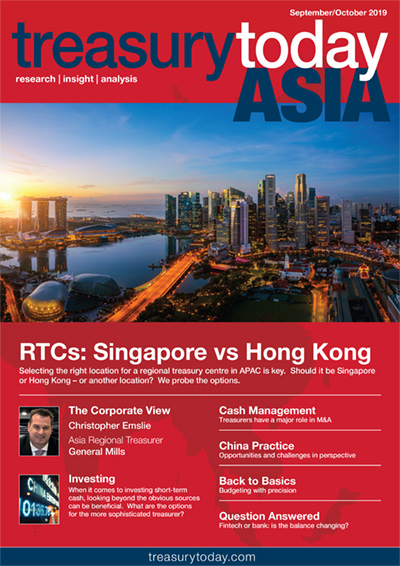 Treasury Today Asia September/October 2019 magazine cover