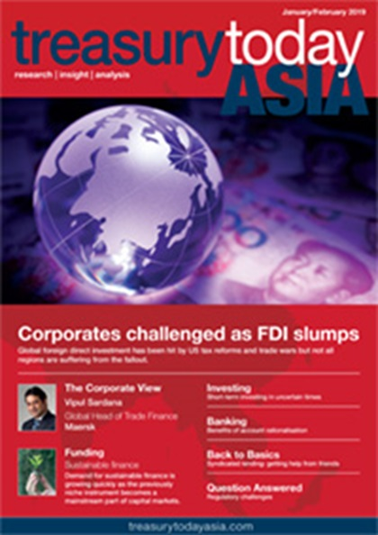 Treasury Today Asia January/February 2019 magazine cover