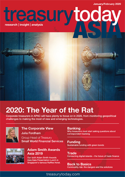 Treasury Today Asia January/February 2020 magazine cover