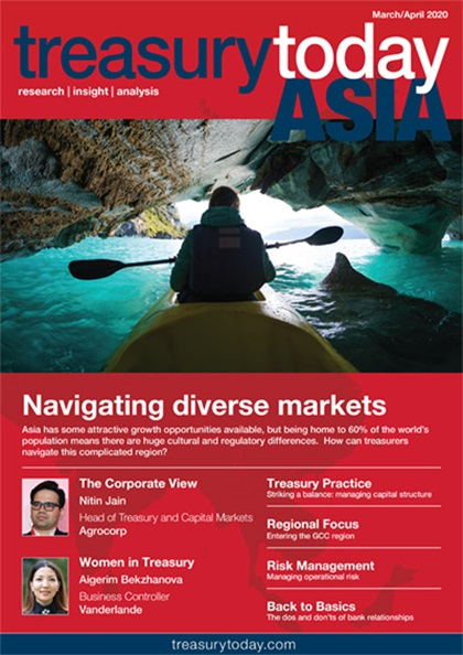 Treasury Today Asia March/April 2020 magazine cover