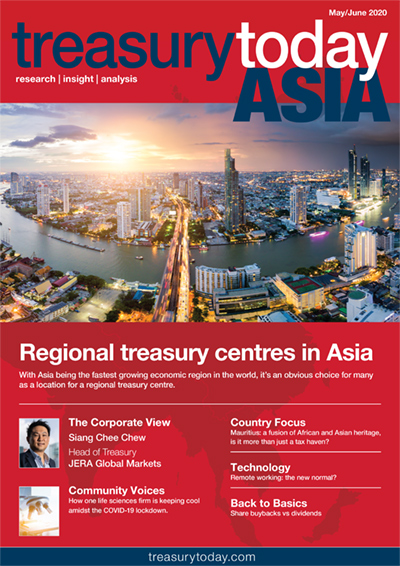 Treasury Today Asia May/June 2020 magazine cover