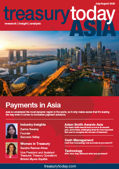 Treasury Today Asia July/August 2020 magazine cover