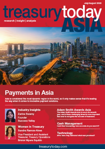 Treasury Today Asia July August 2020 magazine cover