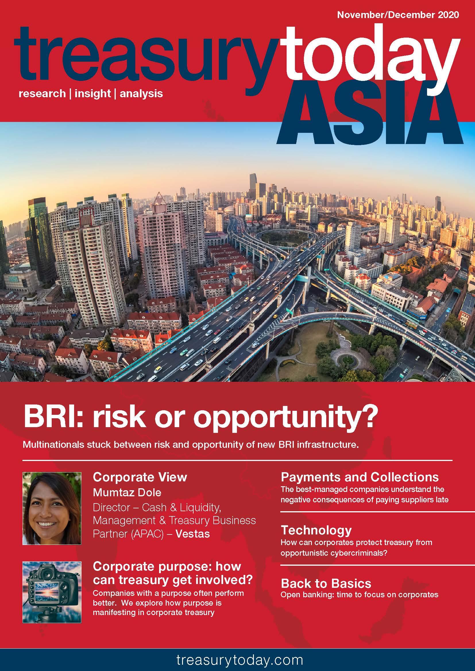 Treasury Today Asia November/December 2020 magazine cover