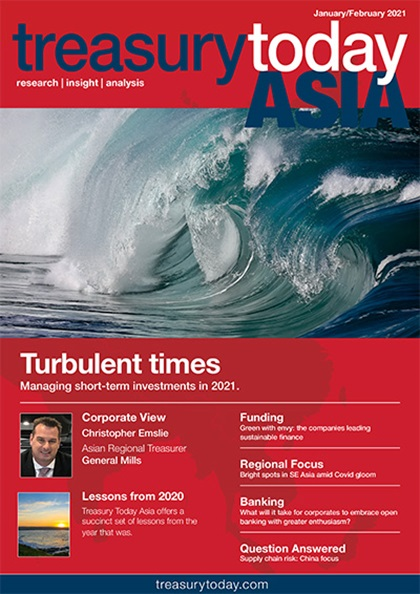 Treasury Today Asia January/February 2021 magazine cover