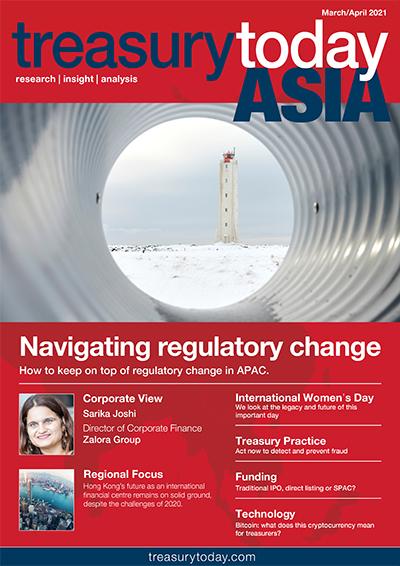 Treasury Today Asia March/April 2021 magazine cover