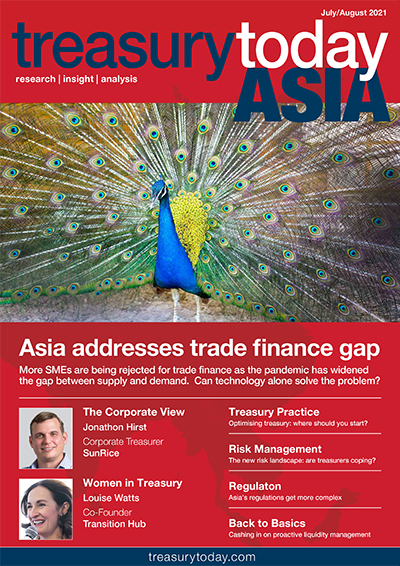 Treasury Today Asia July/August 2021 magazine cover